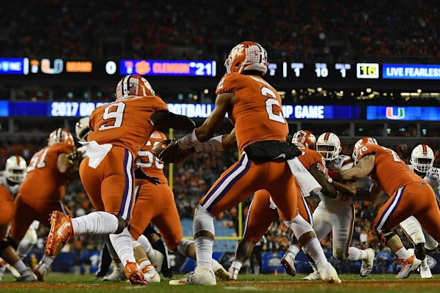 Clemson beat Miami 38-3 in the 2017 ACC Championship Game. (Getty)