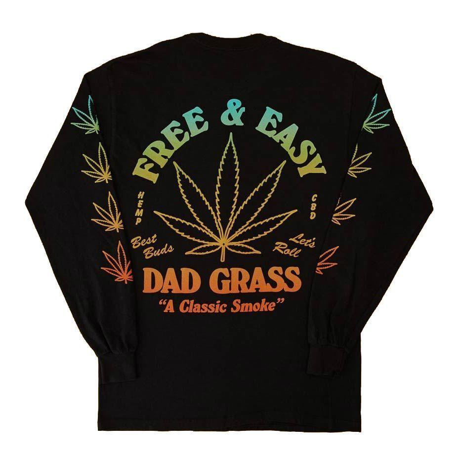 "<p><strong>Dad Grass x Free & Easy</strong></p><p>dadgrass.com</p><p><strong>$68.00</strong></p><p><a href=""https://go.redirectingat.com?id=74968X1596630&url=https%3A%2F%2Fdadgrass.com%2Fcollections%2Fmerch%2Fproducts%2Fdad-grass-x-free-easy-unisex-black-ls-tee%3Fvariant%3D39275399413846&sref=https%3A%2F%2Fwww.esquire.com%2Fstyle%2Fmens-fashion%2Fg35952620%2Fbest-new-menswear-march-26-2021%2F"" rel=""nofollow noopener"" target=""_blank"" data-ylk=""slk:Shop Now"" class=""link rapid-noclick-resp"">Shop Now</a></p><p>Dad Grass makes CBD joints inspired by the low-key weed your old man used to smoke. This shirt? Your dad could never. (Or could he?)</p>"