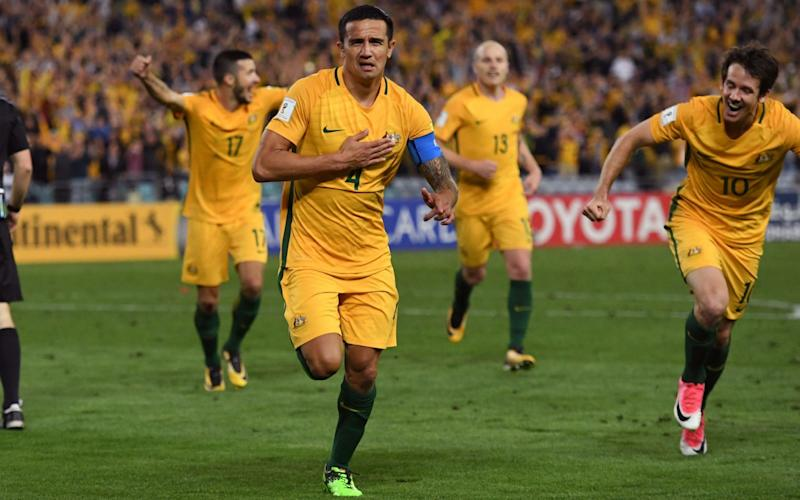 Tim Cahill gave Australia victory in the second half of extra-time - AFP