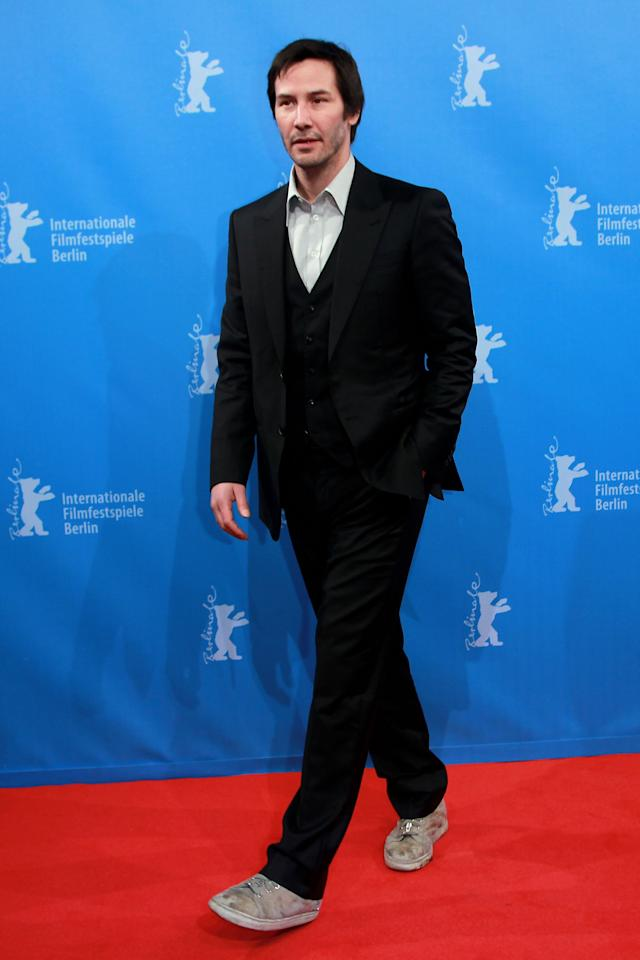 "BERLIN, GERMANY - FEBRUARY 15:  Keanu Reeves attends the ""Side By Side"" Premiere during day seven of the 62nd Berlin International Film Festival at the Haus der Berliner Festspiele on February 15, 2012 in Berlin, Germany.  (Photo by Sean Gallup/Getty Images)"