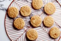 """These childhood favorites get their tangy flavor from an old-school leavener: cream of tartar. <a href=""""https://www.epicurious.com/recipes/food/views/classic-snickerdoodle-cookies?mbid=synd_yahoo_rss"""" rel=""""nofollow noopener"""" target=""""_blank"""" data-ylk=""""slk:See recipe."""" class=""""link rapid-noclick-resp"""">See recipe.</a>"""