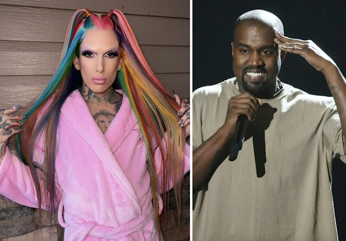 There's no evidence that Kanye West and Jeffree Star are actually romantically involved.