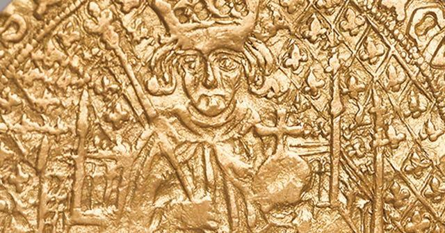 Detail of the rare coin