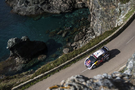 FILE PHOTO - Sebastien Ogier (FRA) seen during FIA World Rally Championship 2018 in Bastia, France on 7.04.2018. // Jaanus Ree/Red Bull Content Pool. For more content, pictures and videos like this please go to www.redbullcontentpool.com