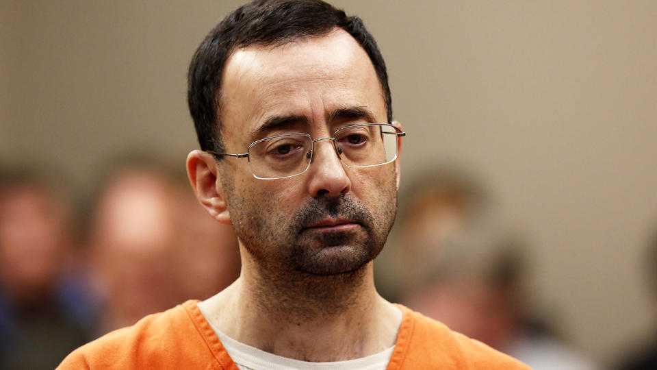 Larry Nassar, pictured here at Ingham County Circuit Court in 2017.