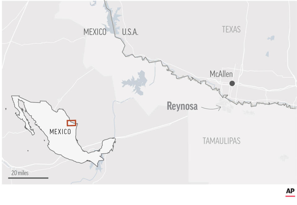 Law enforcement officials say gunmen aboard a number of vehicles have staged attacks in several neighborhoods in the Mexican border city of Reynosa.