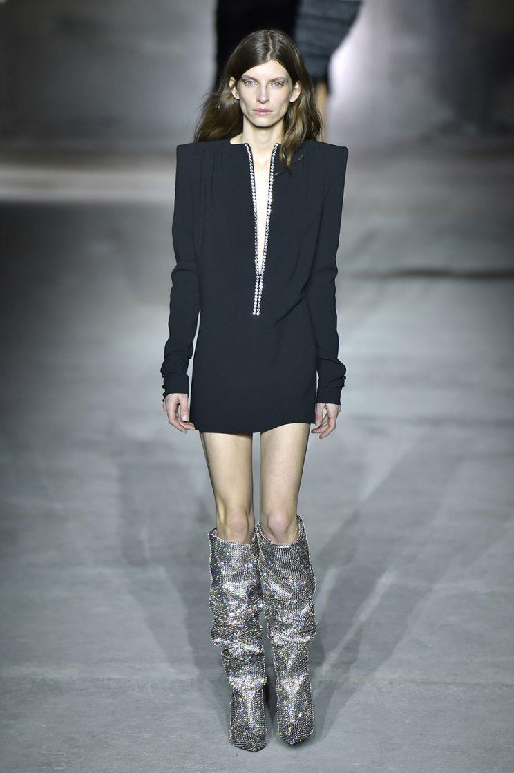 e02525e848a The Internet Is Obsessed With Saint Laurent's Insane Glitter Boots