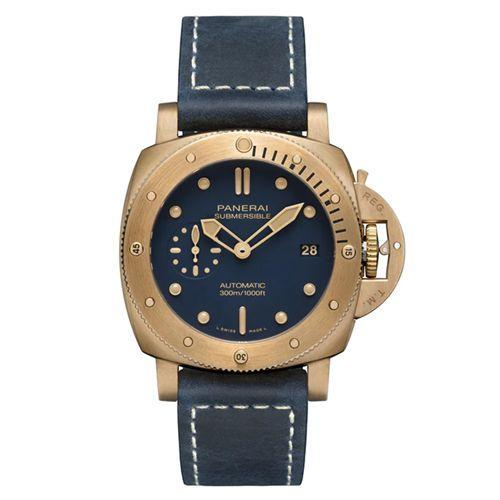 """<p>Submersible Bronzo Blu Abisso</p><p><a class=""""link rapid-noclick-resp"""" href=""""https://www.panerai.com/gb/en/collections/watch-collection/submersible/pam01074-submersible-bronzo-blu-abisso.html"""" rel=""""nofollow noopener"""" target=""""_blank"""" data-ylk=""""slk:SHOP"""">SHOP</a></p><p>A decade after its original launch, the Submersible Bronzo Blu Abisso mark two is but another convincing argument for the introduction of a bronze medal to your watch collection. It develops its own patina over time, which is unique to you, and the latest Bronzo is limited to just 1,000 models, meaning, again, that it'll be pretty unique to you.</p><p>Inside, there's all the painstaking detail you'd expect from Panerai: an automatic P.900 caliber (made entirely in-house, always a good sign) that has up to 72 hours of juice, and all fully viewable via an open caseback. Oh, and the outside – a navy-on-bronze-on-navy design – is just as nice to look at.</p><p>£13,900; <a href=""""https://www.panerai.com/gb/en/collections/watch-collection/submersible/pam01074-submersible-bronzo-blu-abisso.html"""" rel=""""nofollow noopener"""" target=""""_blank"""" data-ylk=""""slk:panerai.com"""" class=""""link rapid-noclick-resp"""">panerai.com</a></p>"""