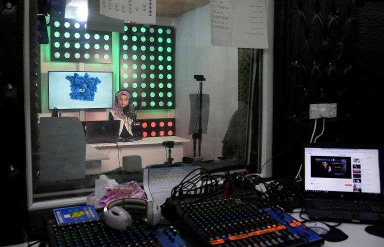 Sixteen-year-old Nour Tai hosts a weekly programme on One FM, a Mosul radio station launched in February, after the end of Islamic State group's rule in Mosul