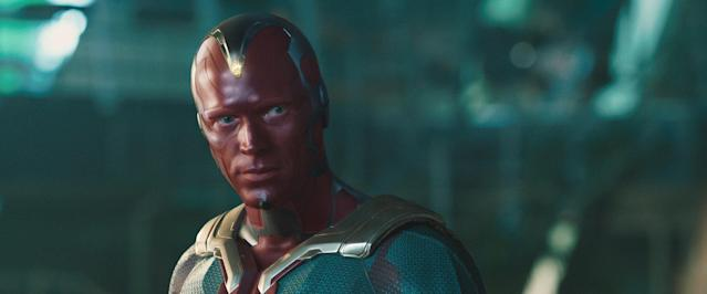 Paul Bettany as The Vision in <em>Avengers: Age of Ultron</em>. (Photo: Walt Disney Studios Motion Pictures/courtesy Everett Collection)