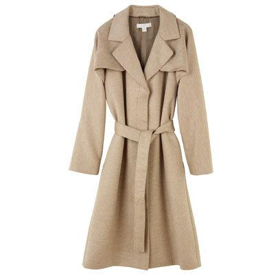 Bamford Trench Cape Coat in Oatmeal
