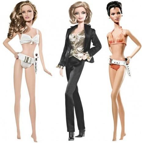 "<div class=""caption-credit""> Photo by: barbiecollector.com</div><b>Bond Girls Barbies, released in 2010 for $34.95 each</b> <br> Pictured here: Honey Ryder in ""Dr. No"" (played by Ursula Andress), Pussy Galore in ""Goldfinger"" (played by Honor Blackman), and Jinx Johnson in ""Die Another Day"" (played by Halle Berry). They also made Solitaire from ""Live and Let Die"" (played by Jane Seymore), and ""Octopussy"" (played by Maude Adams). We love Bond Girls as much as any drooling dude, but do we want dolls of them?"