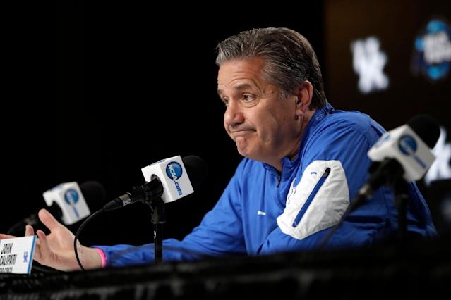 Like the rest of us, John Calipari was in awe of Zion Williamson. (AP)