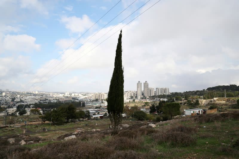 """FILE PHOTO: A general view picture shows part of """"Givat Hamatos"""", an area near East Jerusalem"""