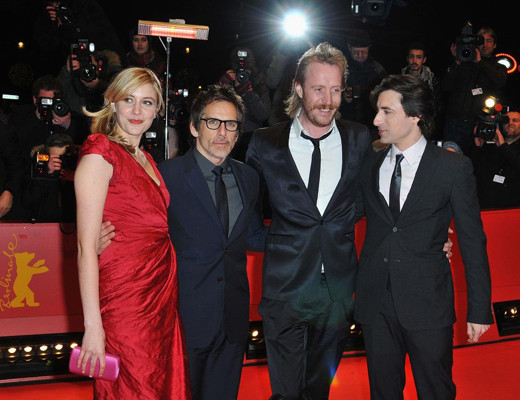"""<a href=""""http://movies.yahoo.com/movie/contributor/1809747218"""">Greta Gerwig</a>, <a href=""""http://movies.yahoo.com/movie/contributor/1800019193"""">Ben Stiller</a>, <a href=""""http://movies.yahoo.com/movie/contributor/1800018838"""">Rhys Ifans</a> and <a href=""""http://movies.yahoo.com/movie/contributor/1800023533"""">Noah Baumbach</a> at the 60th Berlin International Film Festival premiere of <a href=""""http://movies.yahoo.com/movie/1810076160/info"""">Greenberg</a> on February 14, 2010 in Berlin, Germany."""
