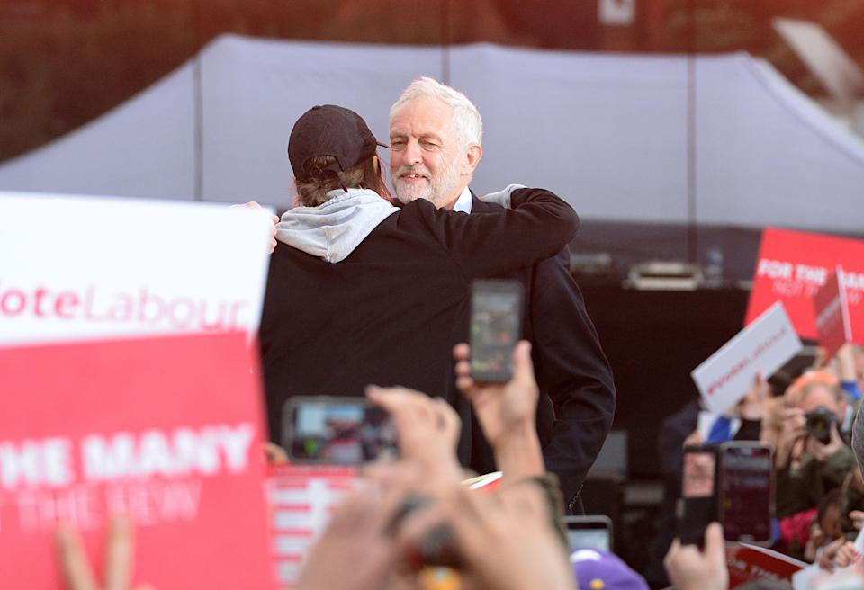 <strong>Saffiyah Khan taking part in Jeremy Corbyn's General Election rally in Birmingham</strong> (Photo: PA Archive/PA Images)