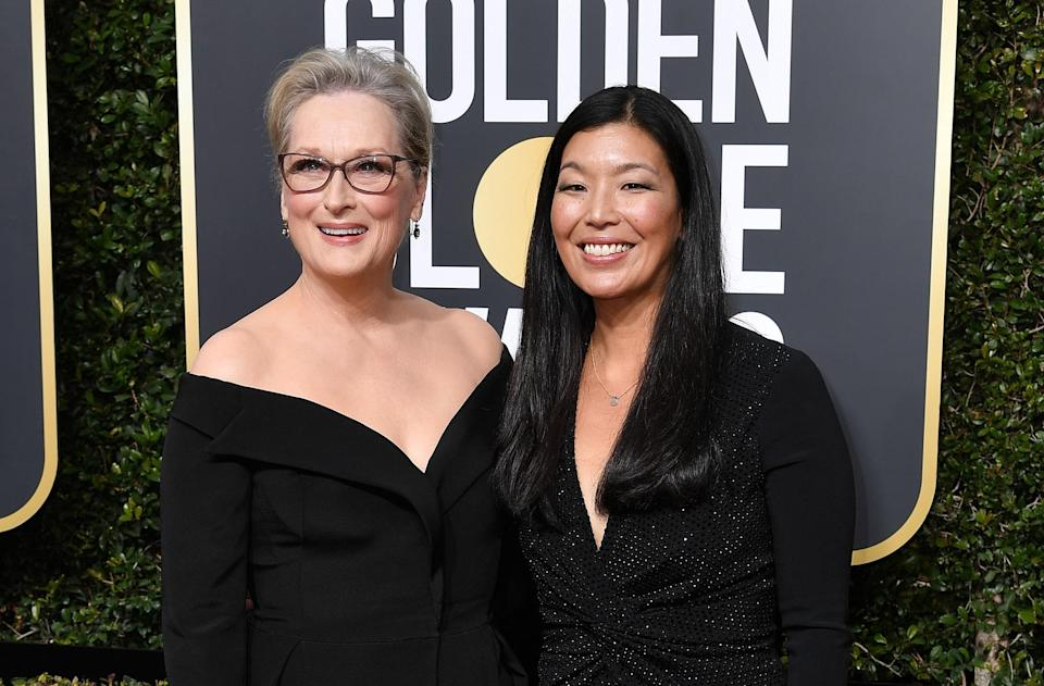 Meryl with the director of the National Domestic Workers Alliance, Ai-jen Poo. Copyright: [Rex]