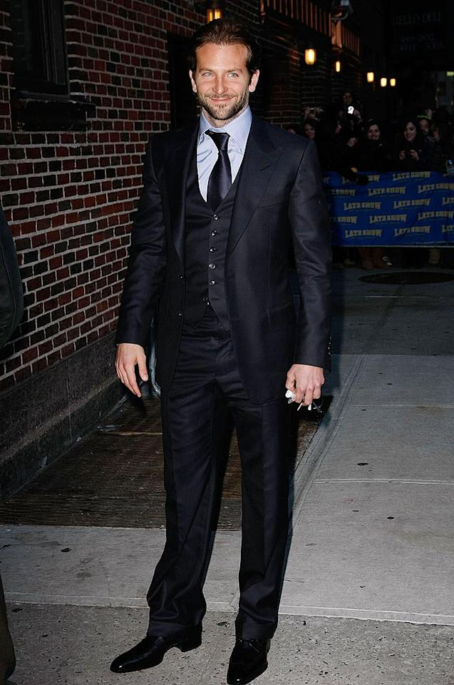 "Days later, a dapper-looking Bradley Cooper popped by the Ed Sullivan Theater to chat with Dave about two of his highly anticipated 2010 movies, ""Valentine's Day"" and ""The A-Team."" Jeffrey Ufberg/<a href=""http://www.wireimage.com"" target=""new"">WireImage.com</a> - January 7, 2010"