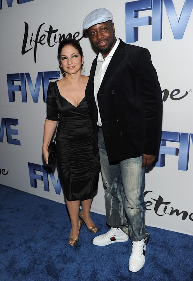 "Gloria Estefan, 54, popped a pose with fellow musician Wyclef Jean on her way in. ""Now @ premiere for ""Five"" on Lifetime, guests of Jenn Aniston,"" she tweeted from the event. Jason Kempin/<a href=""http://www.gettyimages.com/"" target=""new"">GettyImages.com</a> - September 26, 2011"