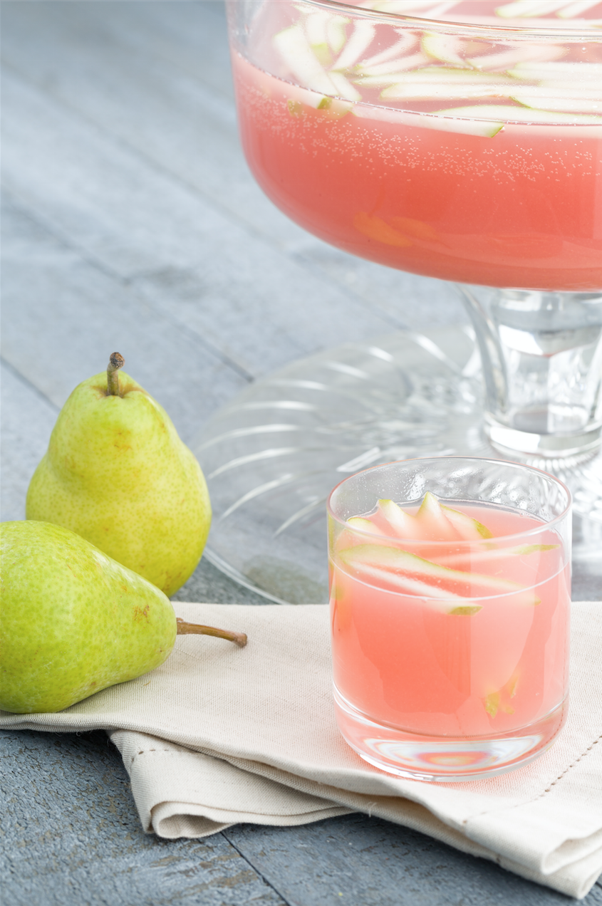 "<p>The prettiest party punch we've ever seen.</p><p>Get the recipe from <a href=""https://www.delish.com/cooking/recipe-ideas/recipes/a44182/sparkling-pear-prosecco-punch-recipe/"" rel=""nofollow noopener"" target=""_blank"" data-ylk=""slk:Delish"" class=""link rapid-noclick-resp"">Delish</a>. </p>"