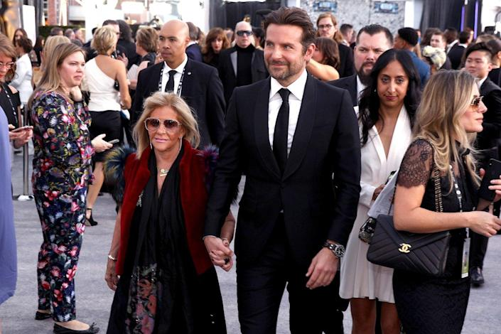 Leading lady: Bradley Cooper took his mother Gloria Campano to the SAG Awards (Invision/AP)