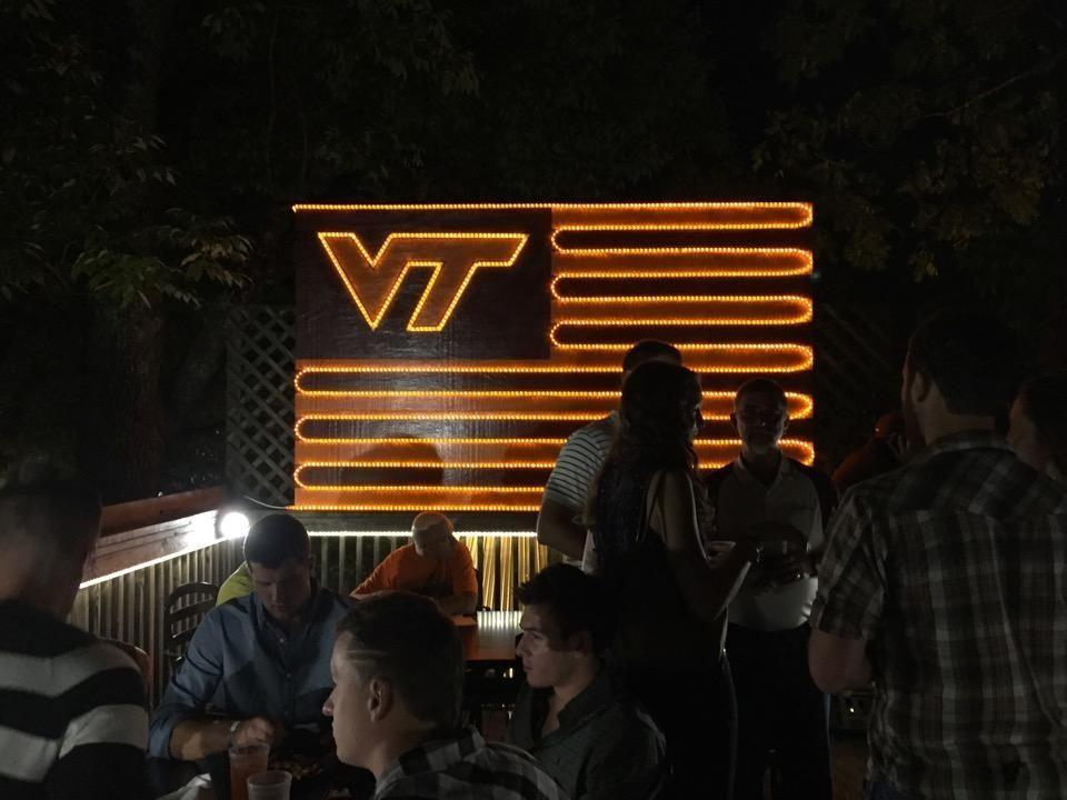 """<p>Deck space is a prime spot for student mingling, and <a href=""""https://go.redirectingat.com?id=74968X1596630&url=https%3A%2F%2Fwww.tripadvisor.com%2FRestaurant_Review-g57513-d6589618-Reviews-Top_Of_The_Stairs-Blacksburg_Virginia.html&sref=https%3A%2F%2Fwww.bestproducts.com%2Ffun-things-to-do%2Fg2528%2Fbest-college-bars%2F"""" rel=""""nofollow noopener"""" target=""""_blank"""" data-ylk=""""slk:Top of the Stairs (TOTS)"""" class=""""link rapid-noclick-resp"""">Top of the Stairs (TOTS)</a> has no shortage of it. The place is always busy during football season and on sunny days, but don't miss out on karaoke on Tuesdays! The rail drinks will provide the courage you need.</p>"""