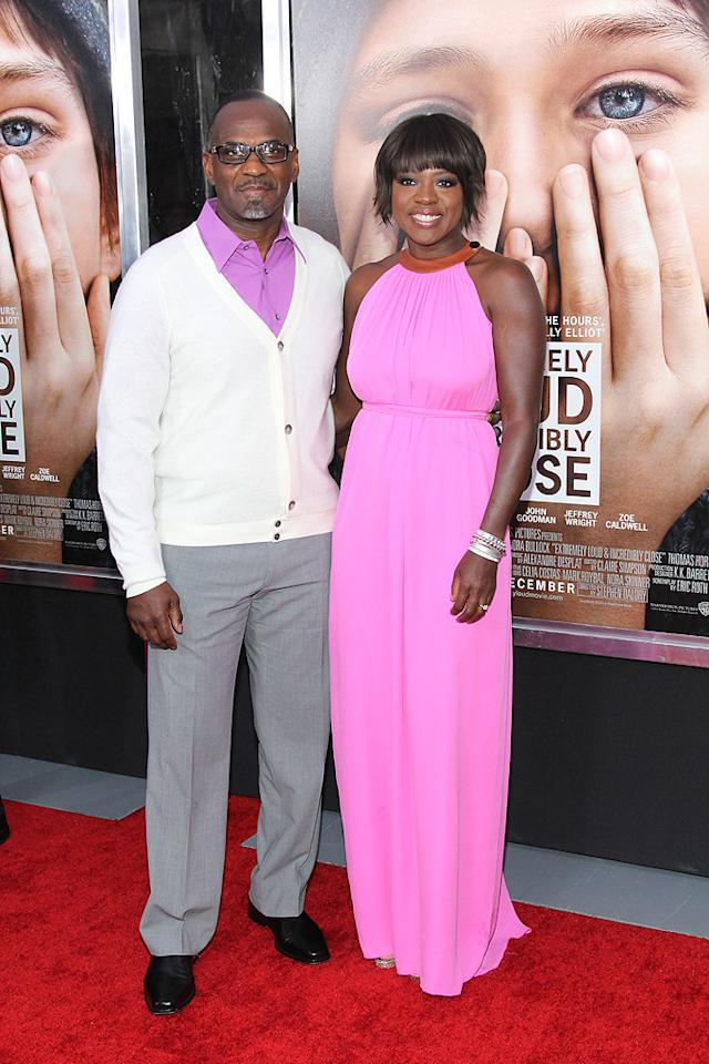 """<a href=""""http://movies.yahoo.com/movie/contributor/1800315745"""">Viola Davis</a> and husband at the New York City premiere of <a href=""""http://movies.yahoo.com/movie/1810196550/info"""">Extremely Loud and Incredibly Close</a> on December 15, 2011."""