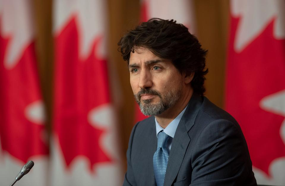 Prime Minister Justin Trudeau is seen during a news conference on Oct. 20, 2020 in Ottawa.  (Photo: CP/Adrian Wyld)