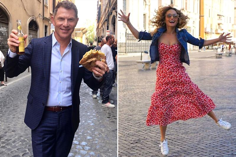 Bobby Flay and Giada De Laurentiis Are Eating Their Way Through Rome for a New Project