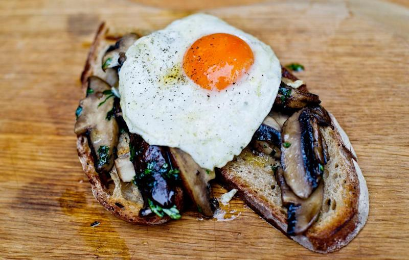 Angela Hartnett's egg-topped mushrooms on toast
