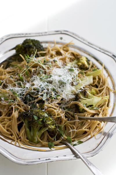 In this image taken on Dec. 3, 2012, cold weather broccoli pasta is shown in a serving dish, in Concord, N.H. (AP Photo/Matthew Mead)