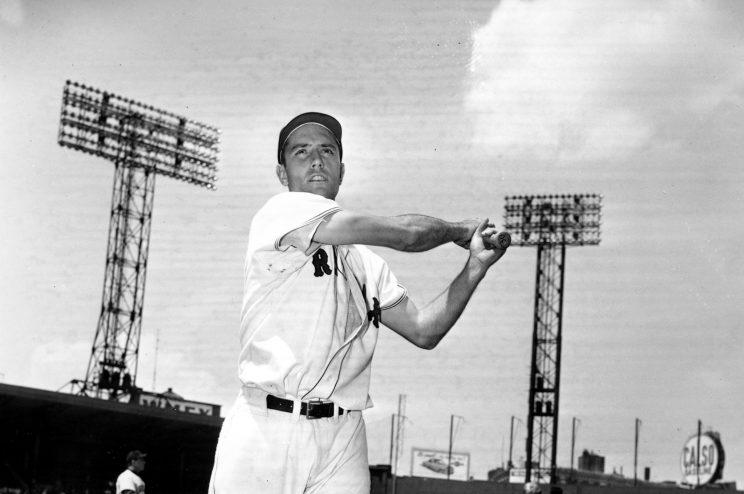 Jim Piersall during his 1952 rookie season with the Red Sox. (AP Photo)