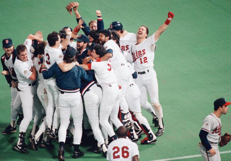 The Minnesota Twins defeated the Atlanta Braves in a dramatic seven-game World Series in 1991 (AP)