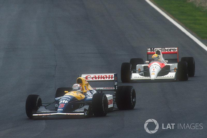 "1991: Nigel Mansell, Williams FW14 Renault<span class=""copyright"">LAT Images</span>"