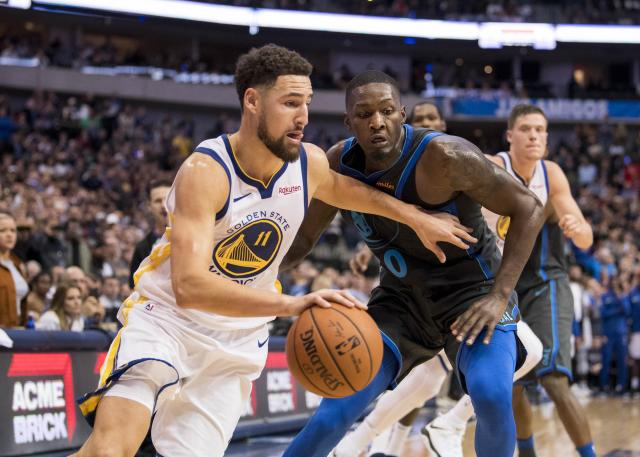 Klay Thompson is reportedly staying in Golden State. (Reuters)