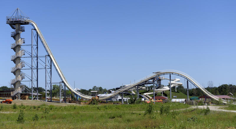 Verrückt was billed as the world's tallest waterslide when it opened in 2014. (Dave Kaup / Reuters)