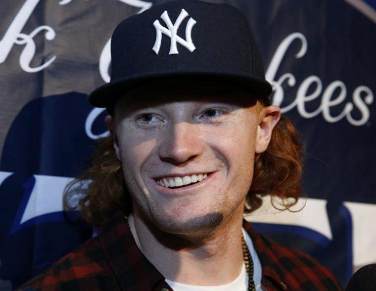 New York Yankees prospect Clint Frazier and his once glorious hair. (AP)