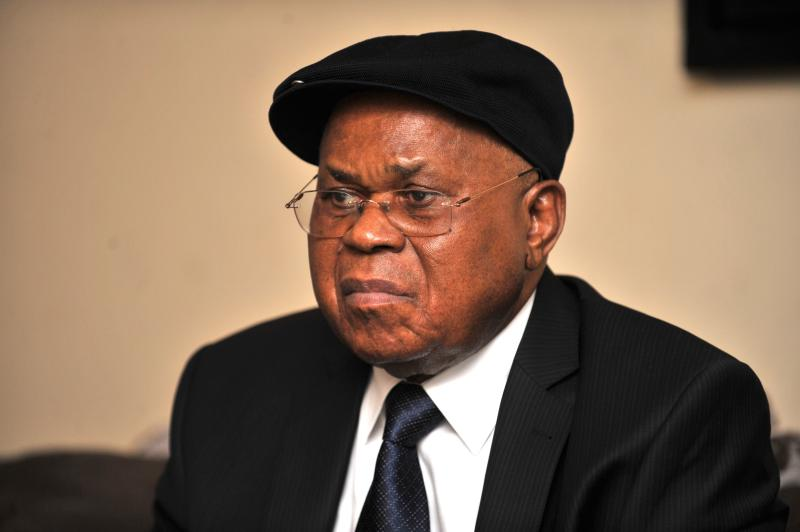 File photo of Democratic Republic of Congo opposition politician, Etienne Tshisekedi, 81, who has left Kinshasa for Brussels on a specially-arranged medical flight, an AFP journalist witnessed