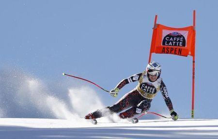 Mar 15, 2017; Aspen, CO, USA; Tina Weirather of Liechstenstein during the women's downhill alpine skiing race in the 2017 Audi FIS World Cup Finals at Aspen Mountain. Mandatory Credit: Jeff Swinger-USA TODAY Sports