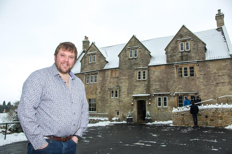 James Dickson is pleased as punch that the Packhorse Inn in Somerset has been saved (SWNS)
