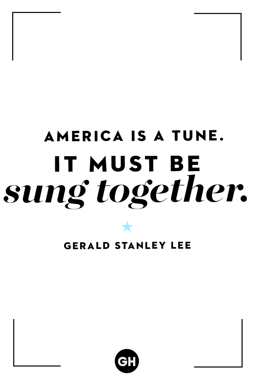 <p>America is a tune. It must be sung together.</p>