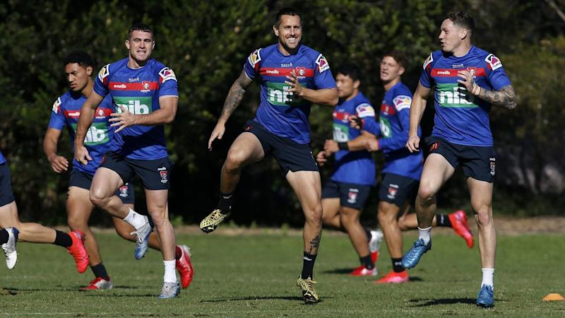 NRL KNIGHTS TRAINING