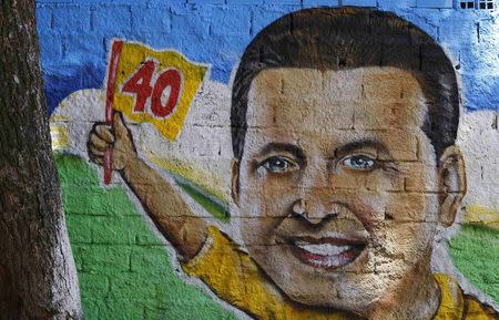 A drawing of the late presidential candidate Eduardo Campos is seen at a campaign center in Recife