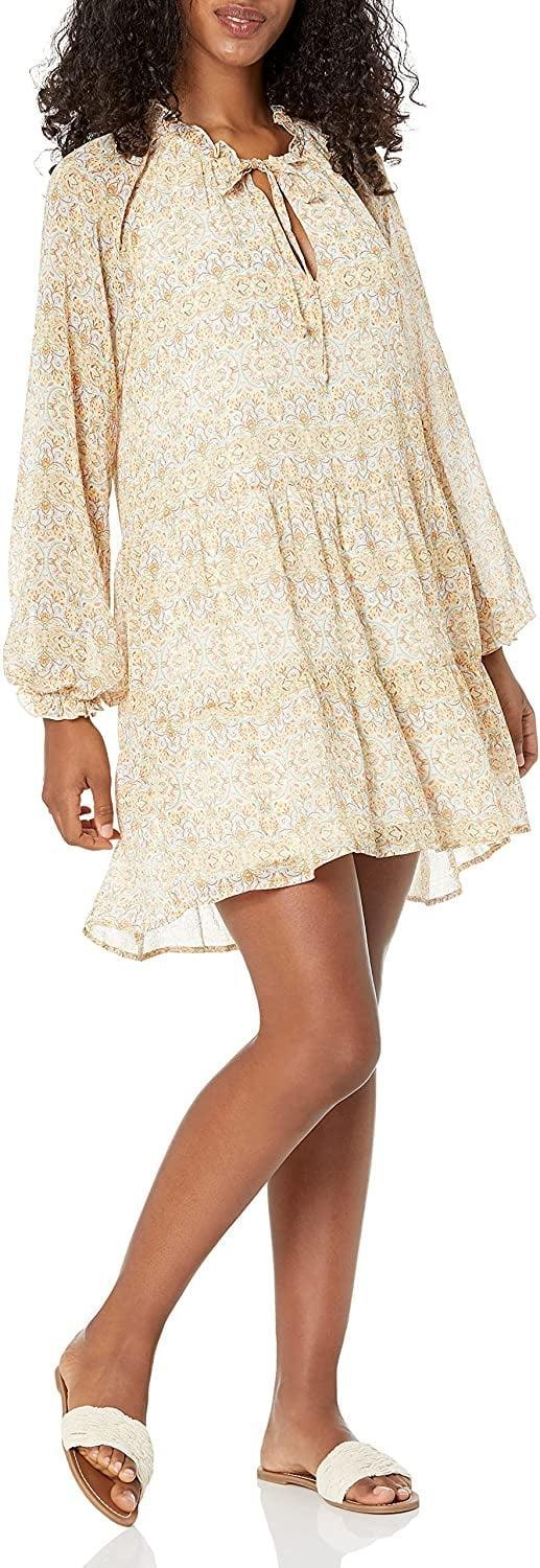 <p>Repeat after me: I can <em>definitely</em> wear a minidress this fall. All you need to do is pair it with some opaque tights and chunky boots. So if you want to pick up a new dress to match the occasion, the <span>Show Me Your Mumu Women's Birdie Mini Dress</span> ($158) is designed to deliver. Its long, balloon sleeves feel autumnal, but its light, airy fabric will also come in handy once the temperature rises again.</p>