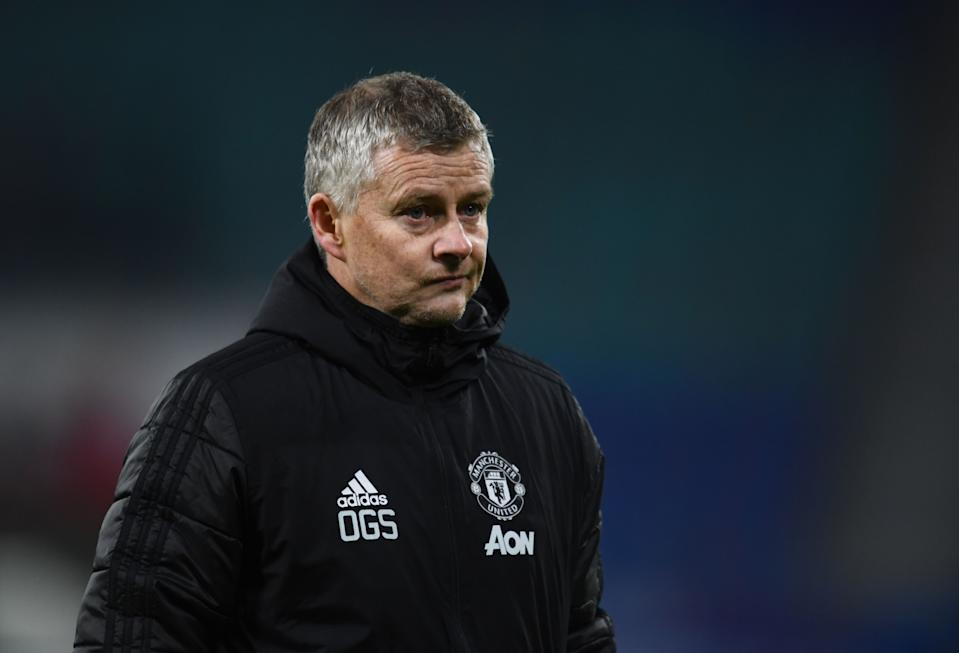 Ole Gunnar Solskjaer is taking some heat after Manchester United crashed out of the Champions League in the group stage. (Photo by ANNEGRET HILSE/POOL/AFP via Getty Images)