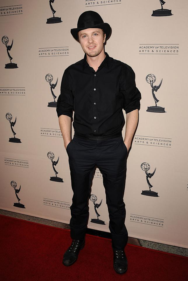 "Michael Pitt arrives at The Academy of Television Arts & Sciences Presents An Evening With ""<a href=""http://tv.yahoo.com/boardwalk-empire/show/41428"">Boardwalk Empire</a>"" event at Leonard H. Goldenson Theatre on April 26, 2012 in North Hollywood, California."