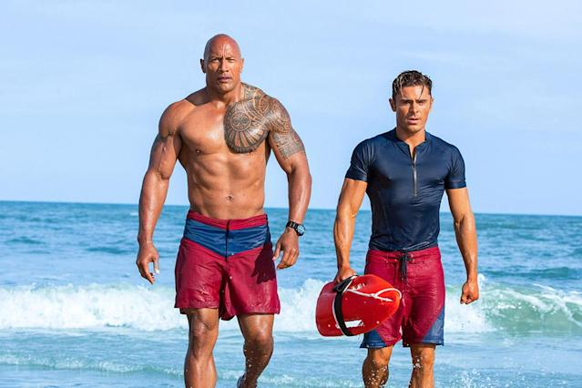 "<p>With a cast of proven comic heavyweights — including Dwayne Johnson and, yes, Zac Efron (have you seen <i>Neighbors</i>? The dude is funny!) — <i>Baywatch </i>should have kept audiences in stitches all summer long. But the laughs were few and far between as the movie struggled to make up its mind about whether it wanted to skewer or imitate its laughable source material, David Hasselhoff's cheesy TV series. We almost want <a href=""http://variety.com/2017/film/news/baywatch-movie-sequel-franchise-producer-beau-flynn-interview-1202444994/"" rel=""nofollow noopener"" target=""_blank"" data-ylk=""slk:those sequel rumors"" class=""link rapid-noclick-resp"">those sequel rumors</a> to be true, if only so that Johnson & Co. can get it right next time. We said <em>almost</em>! — E.A. (Photo: Paramount) </p>"