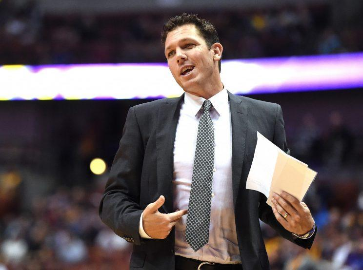 Luke Walton's positivity has the Lakers looking better. (Getty Images)
