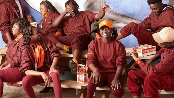 PHOTO: Popeyes releases a fashion line based on employee uniforms. (Popeyes)