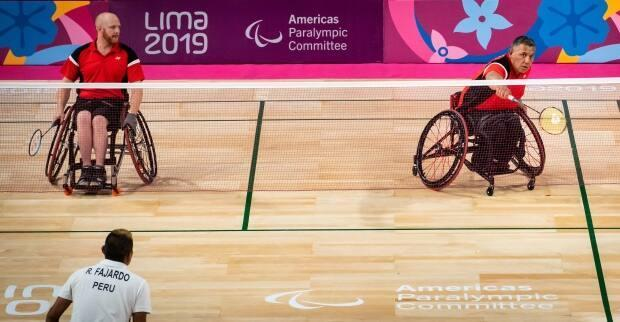 After a long career in wheelchair basketball, Peter turned to para-badminton in 2016, winning a bronze medal in doubles at the 2019 Pan Am Games.  (Dave Holland/Canadian Paralympic Committee - image credit)